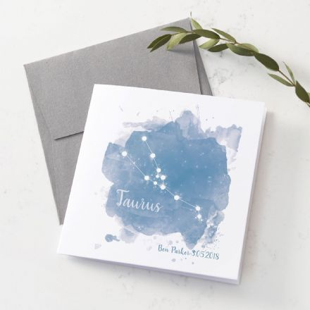 Personalised Taurus Star Sign Card